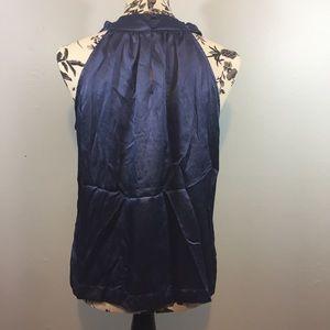 Apt. 9 Tops - Apt 9 Pearl Collar Silky Blue Top